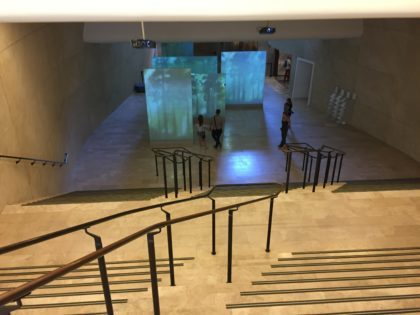POLIN – Museum of the History of Polish Jews in Warsaw with children, attractions for kids, first gallery, stairs