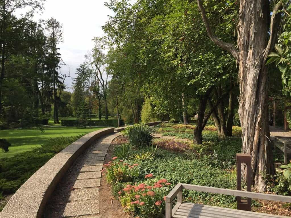 Zelazowa Wola in Poland with children - Birthplace of Frederic Chopin, attractions for kids, park during summer time