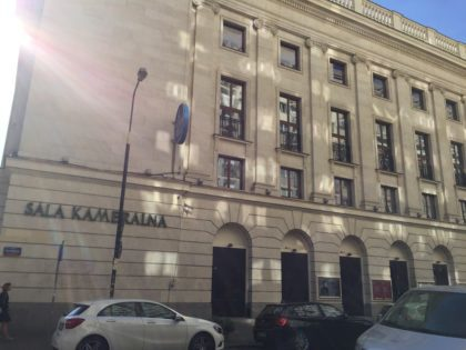 Warsaw Philharmonic – concerts for children - entrance to the Chamber Hall / Sala Kameralna