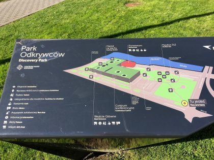 Copernicus Science Centre - map of the park