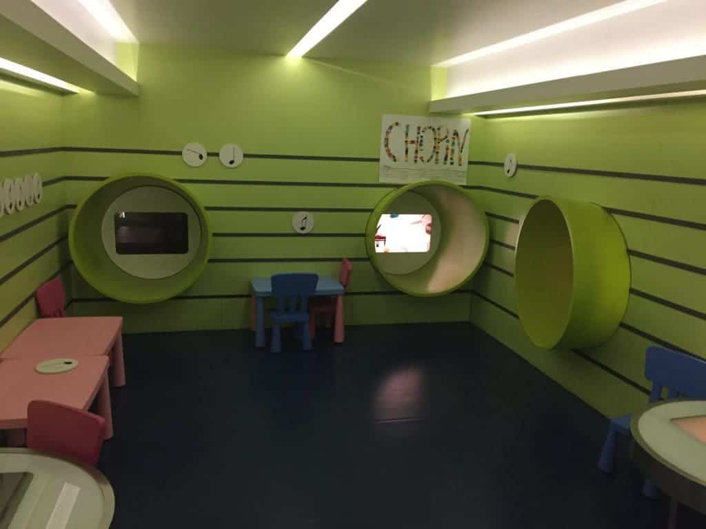 Chopin Museum in Warsaw with kids, attractions for children, interactive play room / playroom for kids