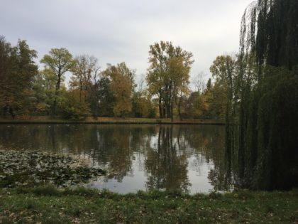 Wilanow Palace and Park in Warsaw - Jezioro Wilanowskie - lake