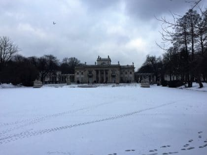 The Royal Lazienki Museum and Park in Warsaw - attractions for kids - winter time