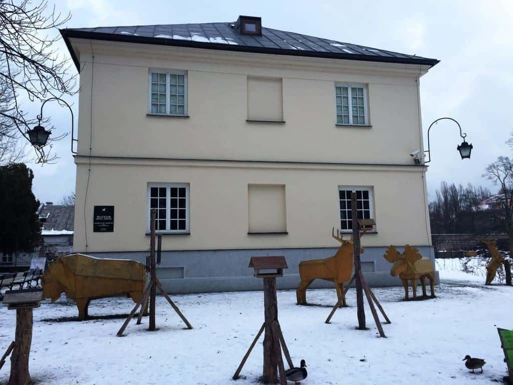 The Royal Lazienki Museum and Park in Warsaw - attractions for kids - in front of the Museum of Hunting and Horsemanship