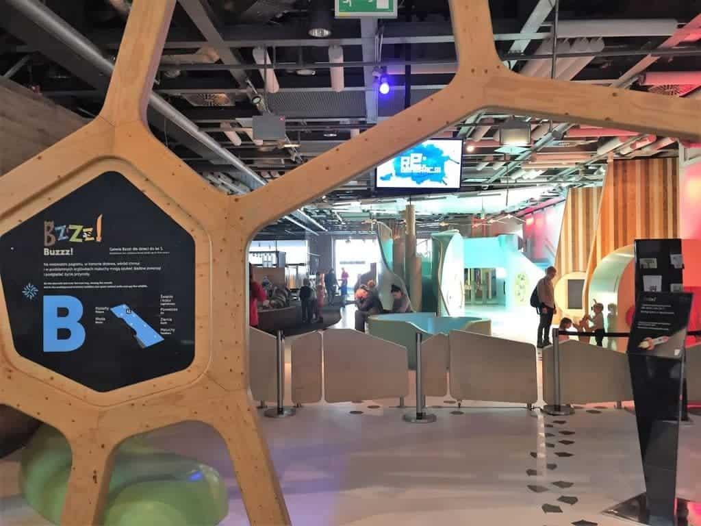 Entrance to the Buzzz! gallery – a separated playing area dedicated forkids up to 5years old
