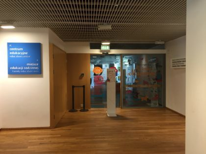 Museum of the History of Polish Jews (POLIN) - entrance to the playroom
