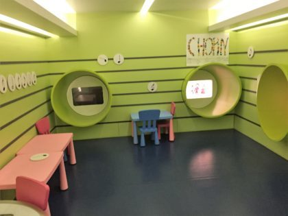 Chopin Museum in Warsaw - playroom for families with kids