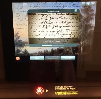 Chopin Museum in Warsaw - how electronic ticket works