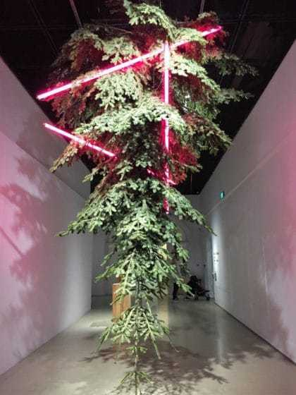 Christmas tree in Center for Contemporary Art in Warsaw