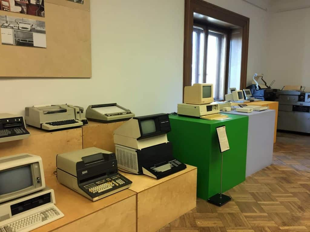 Museum of Technology and Industry in Warsaw in the Palace of Culture and Science - old computer machines