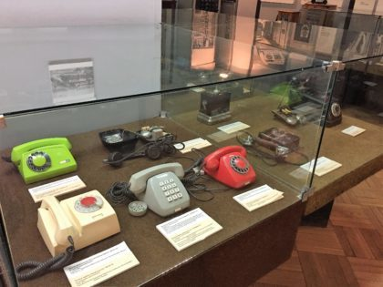 Museum of Technology and Industry in Warsaw in the Palace of Culture and Science - old telephones