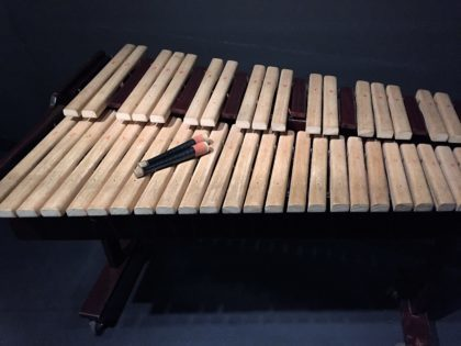 """Museum of Asia and the Pacific in Warsaw - """"Zone of Sounds"""" exhibition - you can play on this instrument"""