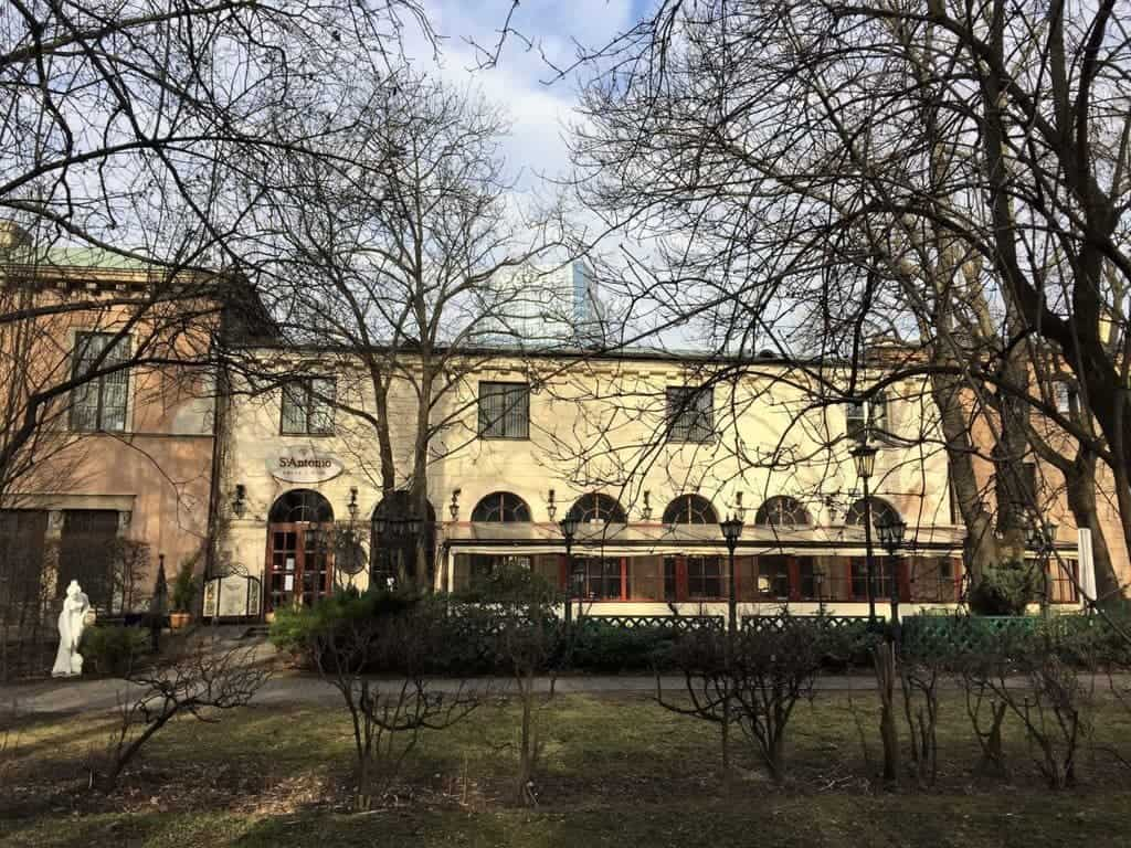 Saxon Garden in Warsaw, Ogrod Saski, St Antonio, restaurant, restauracja
