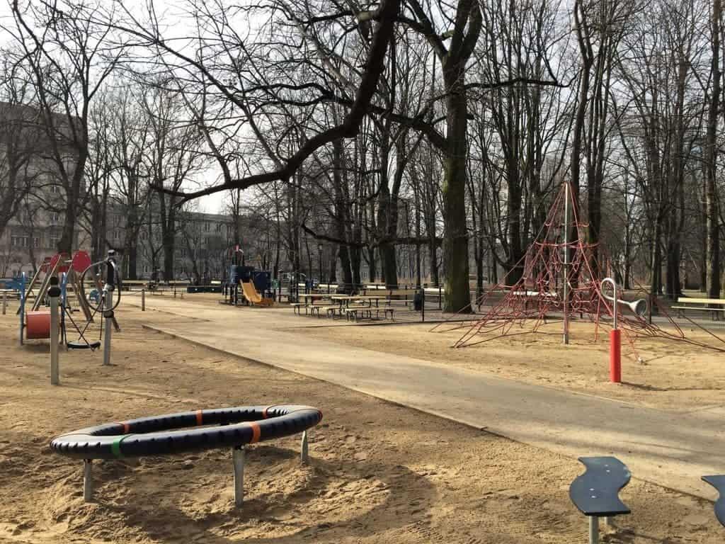 Saxon Garden in Warsaw, Ogrod Saski, playground