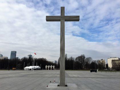 Saxon Garden in Warsaw, Ogrod Saski, cross