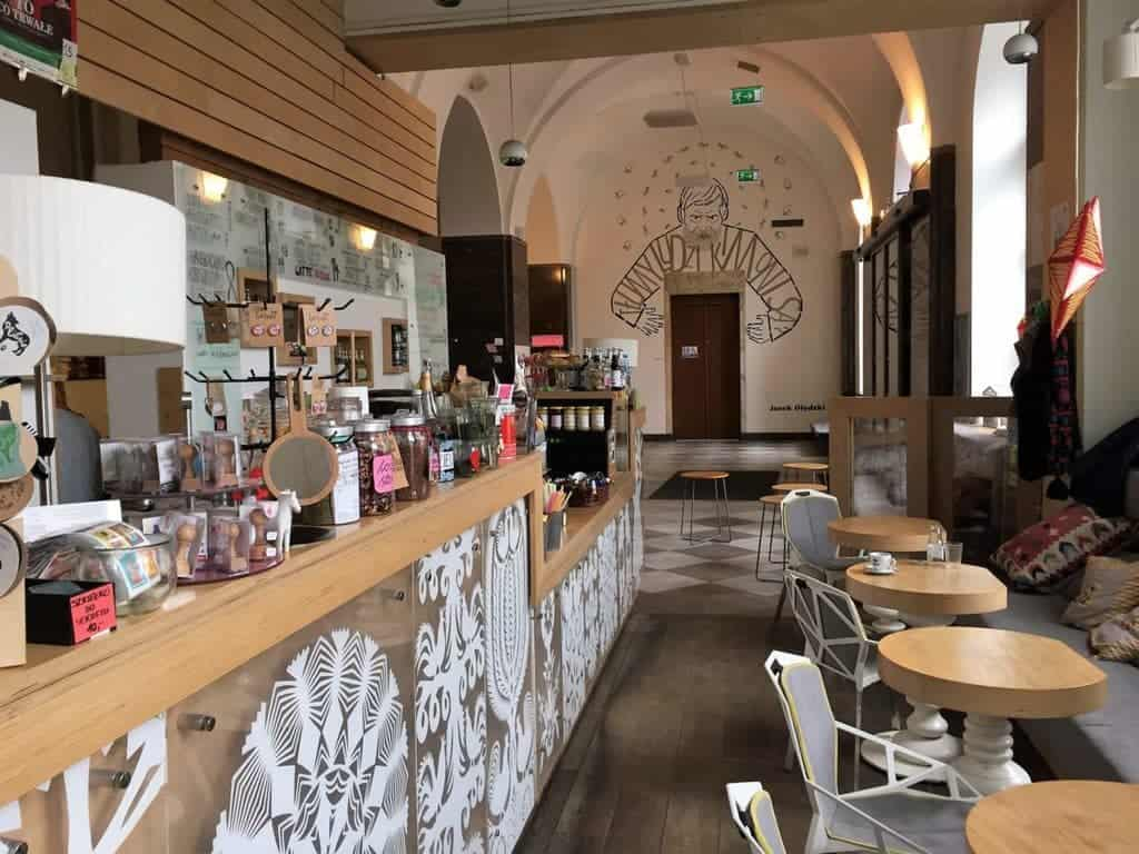 Ethnographic Museum in Warsaw - Bialy Konik bookstore and cafe
