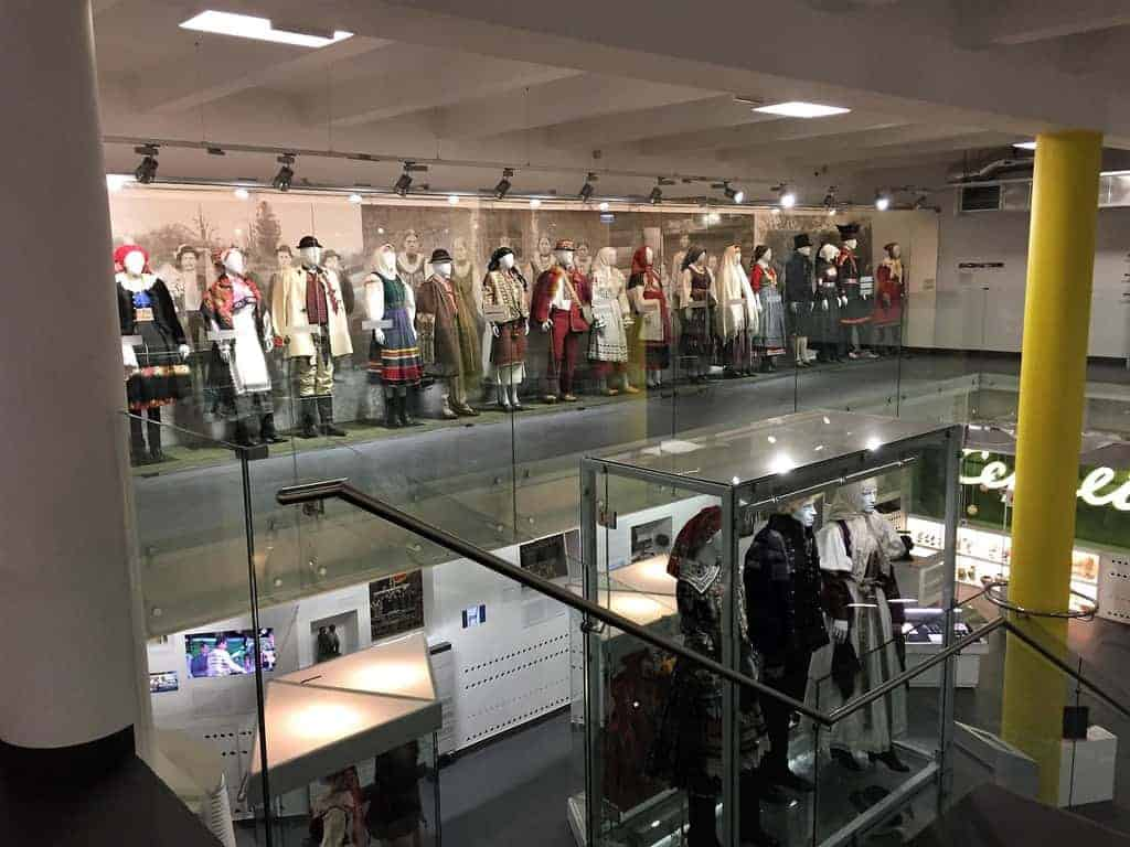 Ethnographic Museum in Warsaw - traditional costumes of different countries