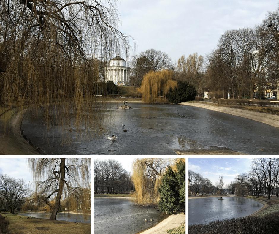 Saxon Garden, Warsaw, Ogrod Saski, pond