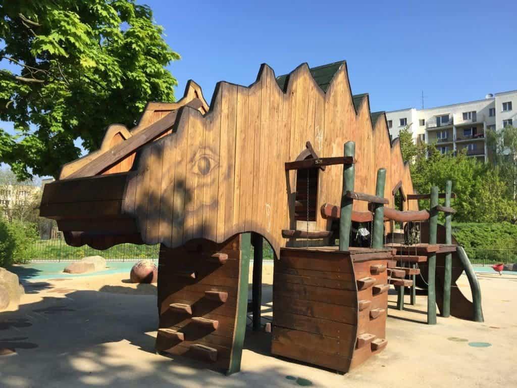 warsaw playgrounds ursynow dinosaurs
