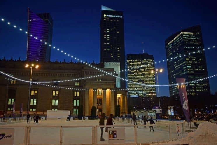 ice skating rink warsaw palac kultury
