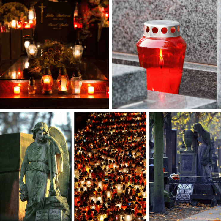November 1 in Warsaw Poland All Saints Day