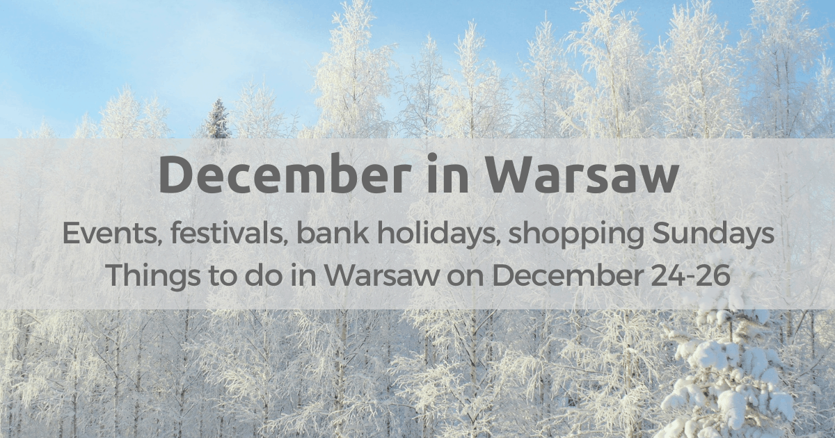 December in Warsaw events