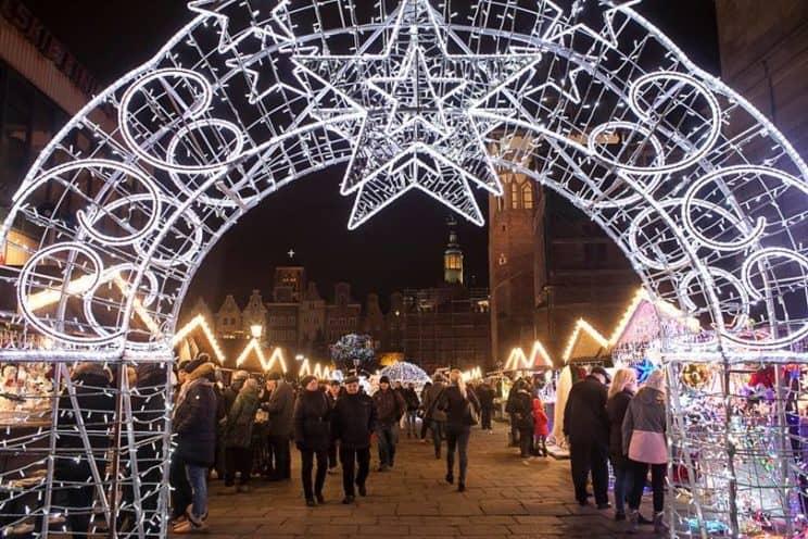 Christmas market in Gdansk, Poland