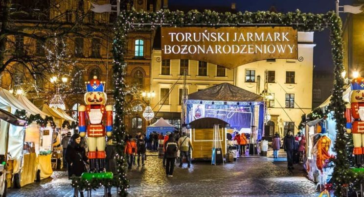 Christmas market in Torun, Poland