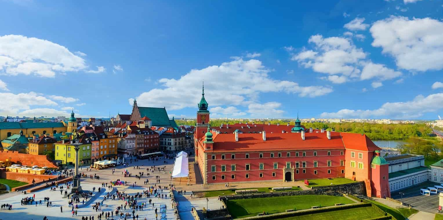 Royal castle and old town in a summer day Poland, Europe