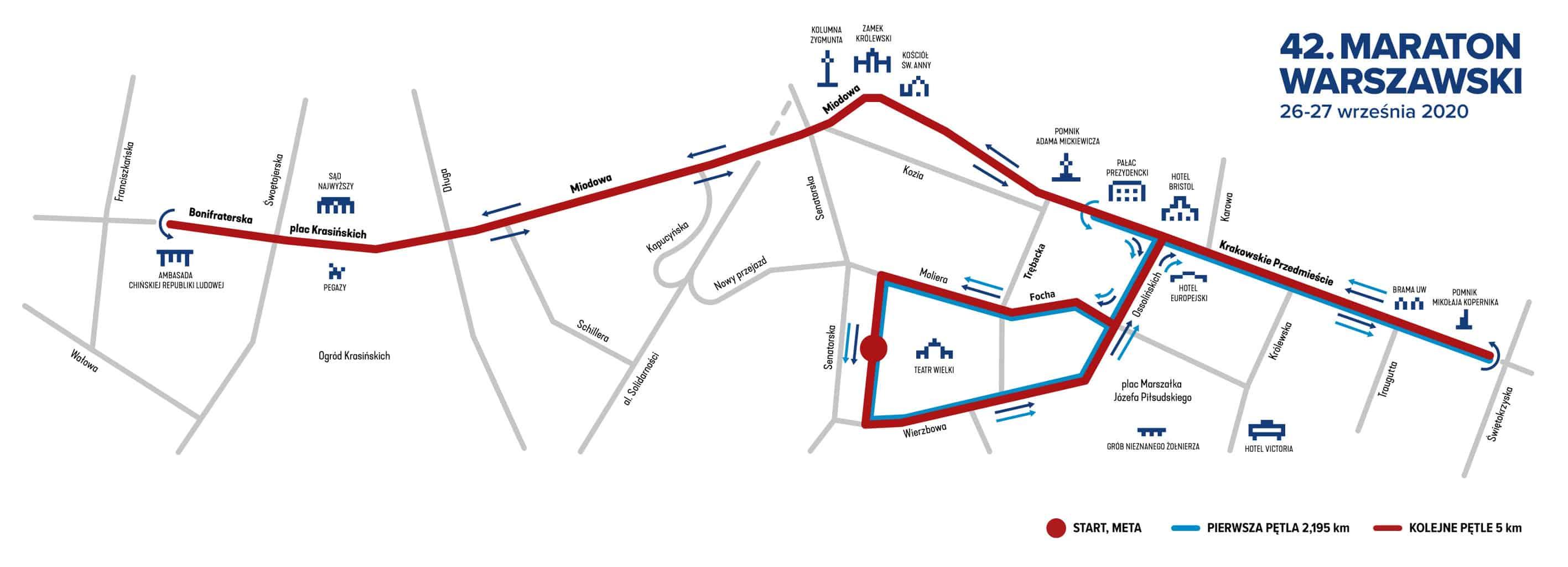 Warsaw Marathon 2020 Poland Map