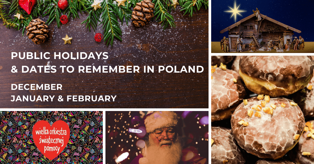 Public holidays and dates to remember in Poland in the wintertime (December, January & February)