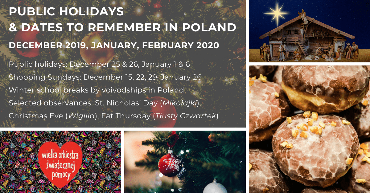 winter in poland, public holidays observances