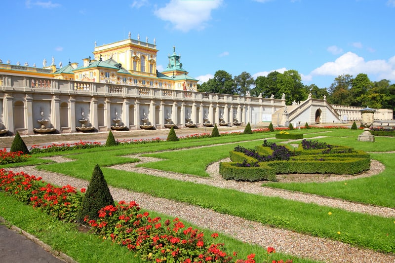 Warsaw Poland Wilanow Royal Palace and Park