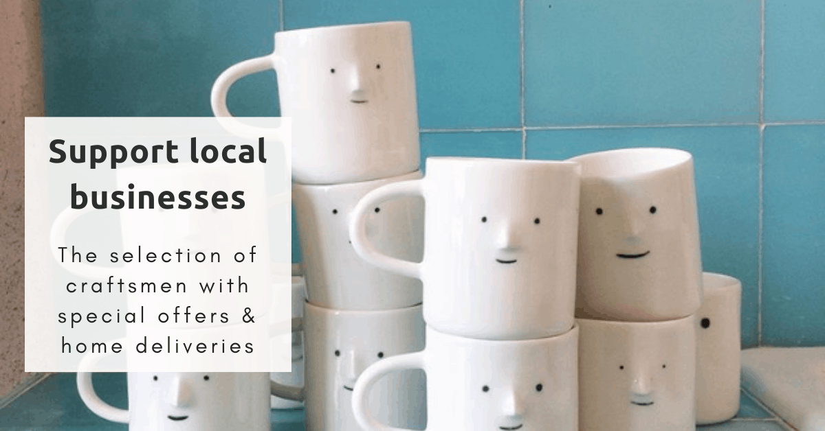 Support local businesses: the selection of craftsmen with special offers and home deliveries