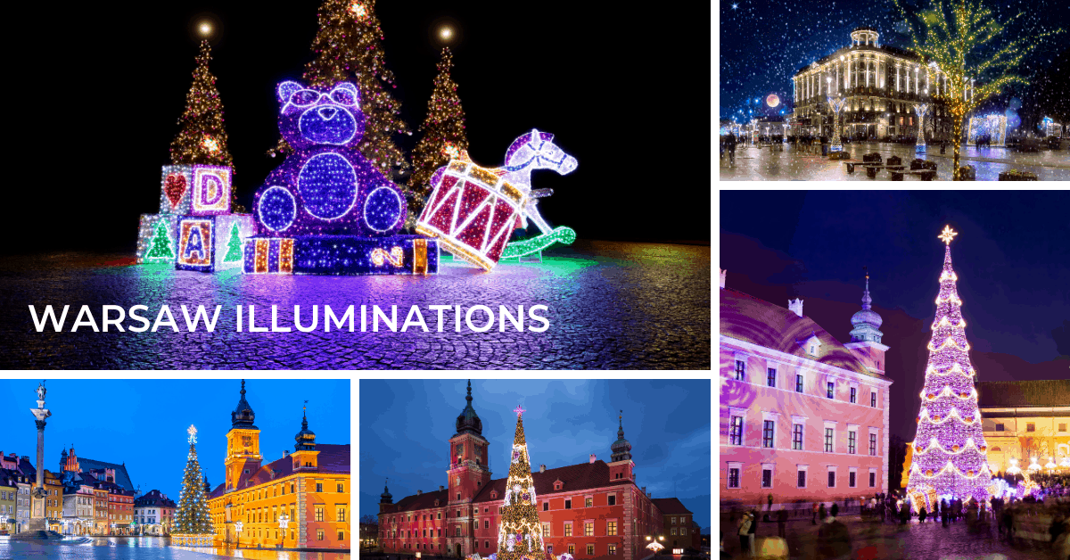 Warsaw illumination: Christmas lights and winter lights festivals and displays
