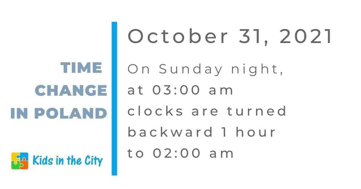 time change in Poland October 2021