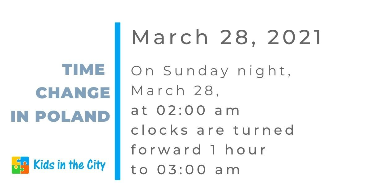 time change in Poland March 2021